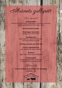 Åbrånets Grillspett meny